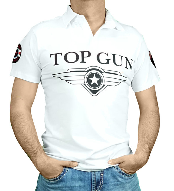 TOP GUN 1/2 T-Shirt 6406 310-TG2019-1010 weiß
